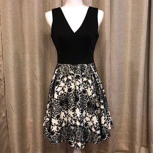 Haute Monde Black and White Dress